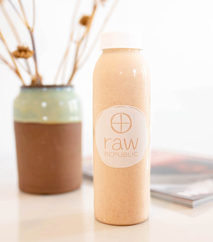 raw republic smoothie on counter